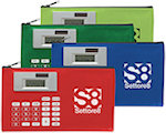Zippered Case With Calculators